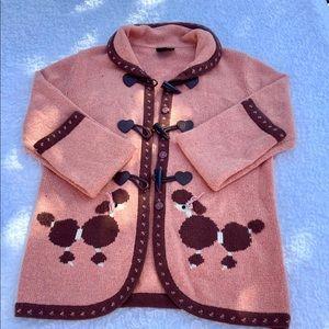 Vintage Rouzili Poodle Cardigan Sweater Unique!